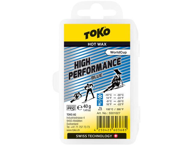 Toko High Performance Cera per sport invernali Blu 40g